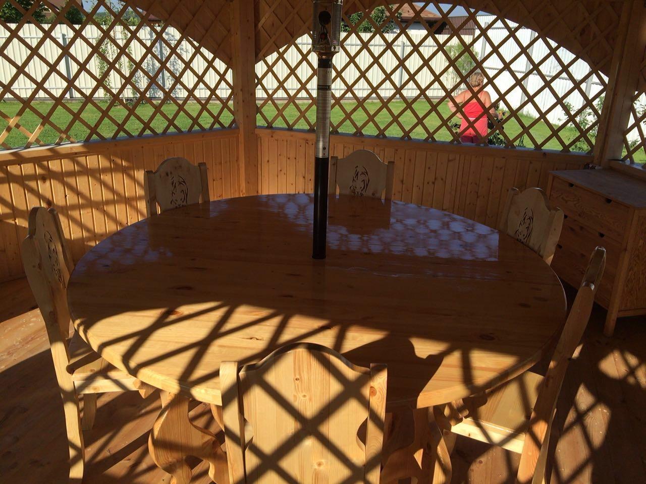 Стол и стулья комплект «ДАЧА»